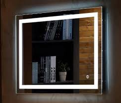 Led Light Mirror Bathroom Wall Mount Led Lighted Bathroom Mirror Vanity Defogger Square