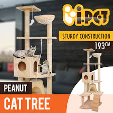 Cat Gyms Cat Tree Scratching Post Scratcher Pole Gym Toy House Furniture