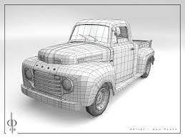 Old Ford Truck Drawing - dan platt character modeler ford f1