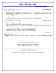 Mortgage Resume Manager Resume