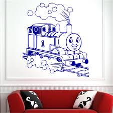 Thomas The Tank Wall Mural Children Thomas Tank Engine Train Wall Art Sticker Decal Kids Play