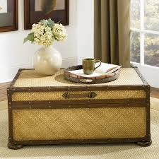 decoration ideas fancy dark walnut storage trunk for coffee table