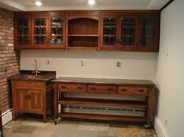custom made bar cabinets hand made arts and crafts quartersawn oak bar sink cabinet by