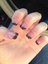 fall nails brown french tips nails pinterest makeup