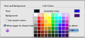 how to choose colors bbc my web my way changing colours in firefox 3 for mac os x