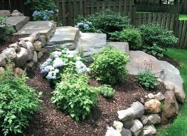 Landscaping Ideas For Sloped Backyard Sloped Yard Landscape Design Impressive On Landscape Ideas For