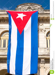 Flag Hanging Large Cuban Flag Stock Image Image Of Everday Ancient 49072381