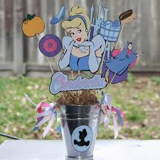 Cinderella Centerpieces 35 Gorgeous Disney Princess Birthday Party Ideas
