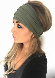 wide headband twist turban olive mypebbyforevee