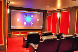 home theater room paint color interior design spectacular with red