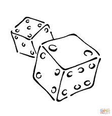 coloring page dice coloring pages bingo dauber fall dot painting