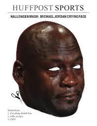 Jordan Crying Meme - it s lit michael jordan crying meme is now a halloween mask