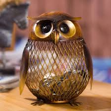 best and cheap brown tooarts owl piggy bank coin bank practical