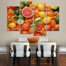 compare prices on red orange painting online shopping buy low 4 panels canvas print green red orange painting on canvas wall art picture home decor fou040
