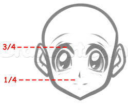 drawing how to draw a female anime head as well as how to draw