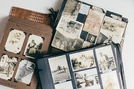 vintage photo albums recording memories with photos