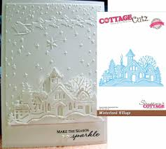 church winterland village metal die cottage cutz dies cce 054