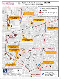 Naperville Il Map Naperville Women U0027s Half Marathon World U0027s Marathons