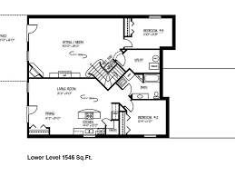 Ranch House Floor Plan Basement House Plans House Plans Basement House Plans Modern