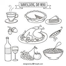 thanksgiving day menus thanksgiving day menu vector free