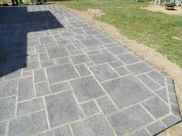 Pavers Over Concrete Patio by Paver Stamped Concrete Patio Look Stamped Concrete Paver Patio