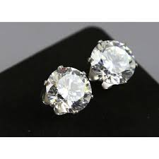 real diamond earrings for men idin men earrings stainless steel imitation diamond square best
