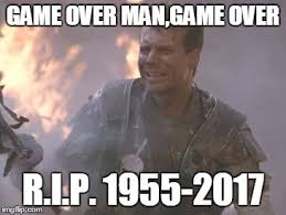 Game Over Meme - r i p bill paxton imgflip