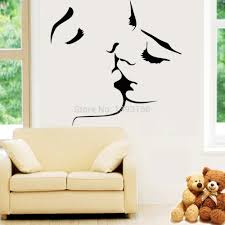 bedroom couple kiss wall stickers home decor wedding decoration