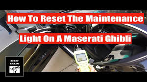how to reset the maintenance light on a toyota corolla how to reset the maintenance light on a maserati ghibli