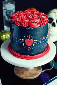 dia de los muertos cake swiss meringue buttercream
