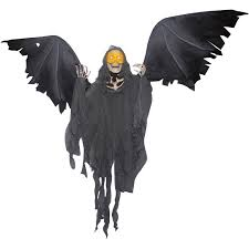 Reaper Halloween Costume Winged Reaper Animated Prop Buycostumes