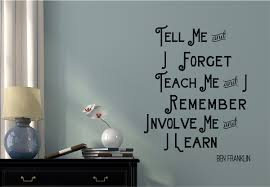 tell me teach me vinyl decal wall stickers words lettering