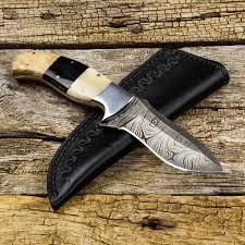 damascus steel knife hazakh hunter