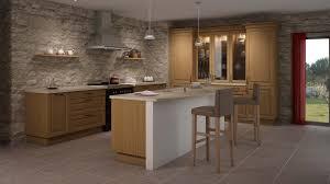 cuisine en bois decoration cuisine ilot