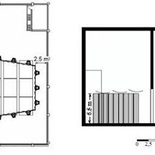 orchestra floor plan figure 4 floor plan and lateral section of configuration 2 of the