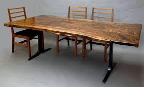 Walnut Slab Table Claro Walnut Slab Dining Table Dorset Custom Furniture Dan Mosheim