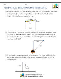 pythagoras theorem questions word problems 2 geometry