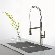 upscale kitchen faucets kraus kpf 1650ss professional kraus single lever pull out kitchen