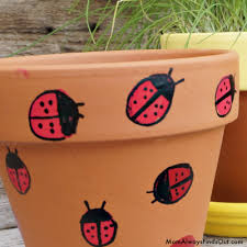 Painting Garden Pots Ideas Thumbprint For Painted Flower Pots Craft