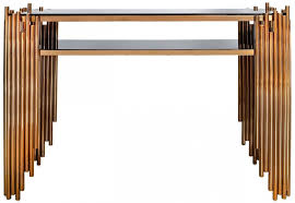 rose gold console table buy burgio rose gold metal and glass console table online cfs uk