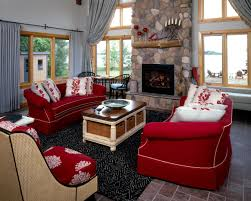 good looking red living room awesome black brown and rugs