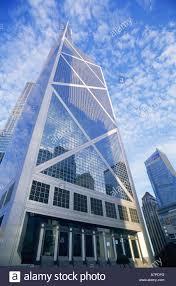 china hong kong central bank of china and modern buildings