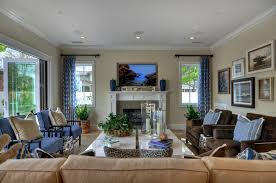 Pleasing  Blue Family Room Design Ideas Decorating Inspiration - Images of family rooms