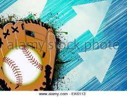baseball invitation poster or flyer abstract background with empty