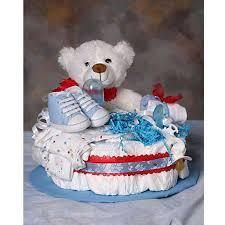 diaper cake centerpiece bear or crown