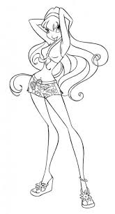fairy winx stella coloring pages hellokids