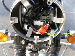 headlight and parking switch activation of royal enfield
