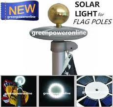 solar upgraded flagpole light 20leds top mount for yard camping