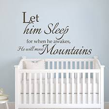 Baby Nursery Wall Decal Geckoo Wall Decor Let Him Sleep For When He Wakes Will Move