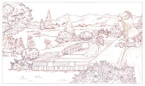 tudors garden scene sketch by courtneytrowbridge on deviantart